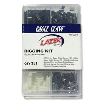 Eagle Claw 350 Piece Lazer Sharp Rigging Kit