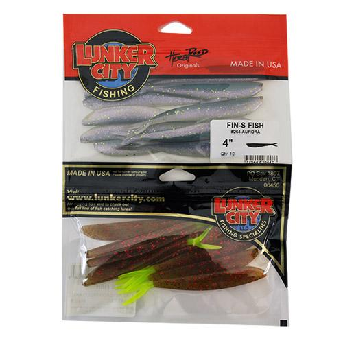 "Lunker City Fin-S Fish 4""2 Piece Assortment Sets & Bundles"