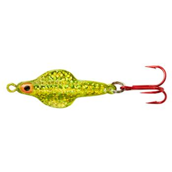 Lindy Techni-Glo 3/16 oz Rattl'n Flyer Spoon - Lime Ice