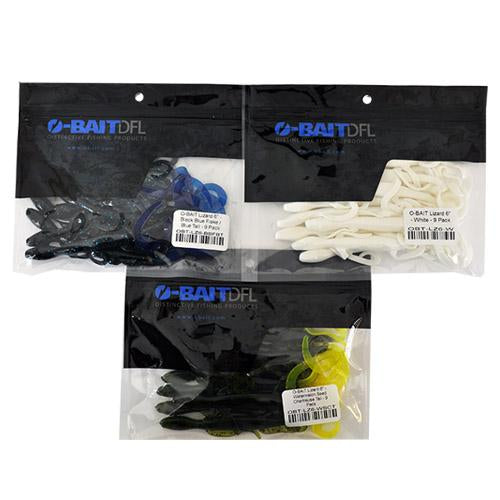 "O-Bait 6"" Lizard 3 Piece Assortment Sets & Bundles"