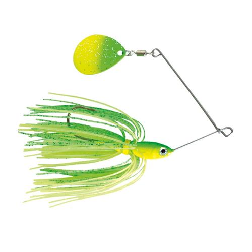 Mission Tackle Single Spins Spinnerbait 1/2 oz / Lime/Chartreuse Hard Baits