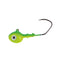 Mission Tackle Rock Chuck Jig Head - 3 Pack 1/4 oz / Lime/Chartreuse Hard Baits
