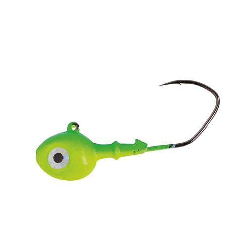 Mission Tackle Rock Chuck Jig Head - 3 Pack 3/8 oz / Lime/Chartreuse Hard Baits