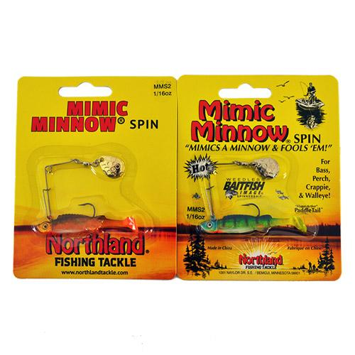Northland Tackle 1/16 oz Mimic Minnow Spinnerbait 2 Piece Assortment Hard Baits