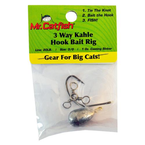 Mr. Catfish 3-Way Kahle Hook Bait Rig