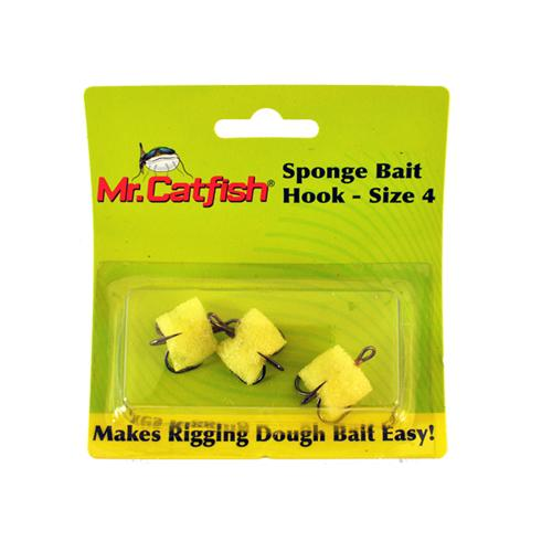 Mr. Catfish Sponge Bait Hook - 3 Pack