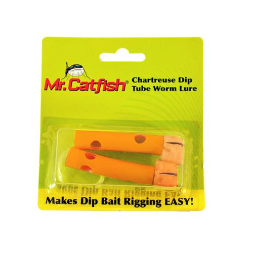 Mr. Catfish Dip Tube Worm Lure - 2 Pack