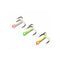 JB Lures Glow Treble Hooks 6 Pack - Assorted Colors