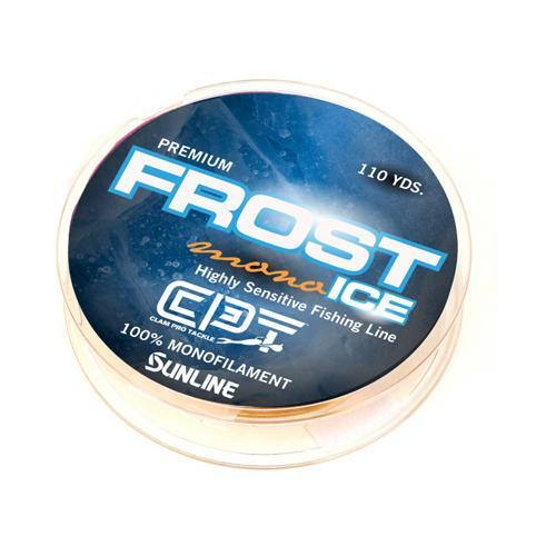 Clam Frost Ice Premium Monofilament Ice Fishing Line - Clear