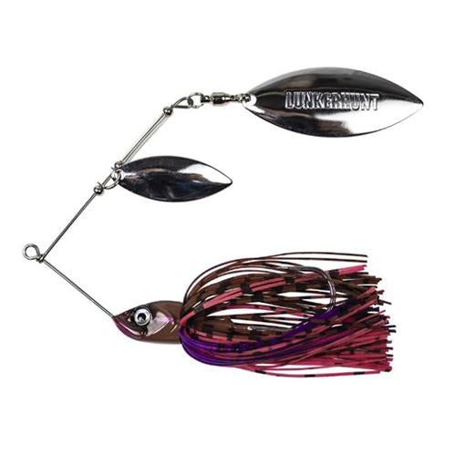Lunkerhunt Impact Ignite Willow Leaf Spinnerbait Moss Hard Baits