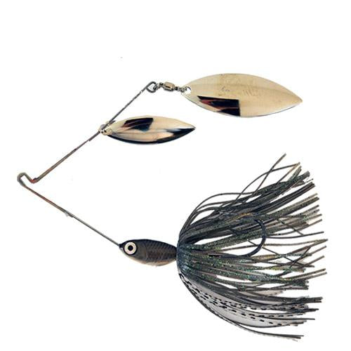 Wahoo Pro-Select BB Swivel Double Willow Spinnerbait 3/8 oz Mouse Hard Baits