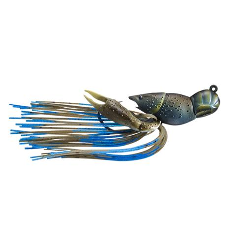 LIVETARGET 3/8 oz Hollow Crawfish Jig Mud/Blue Hard Baits