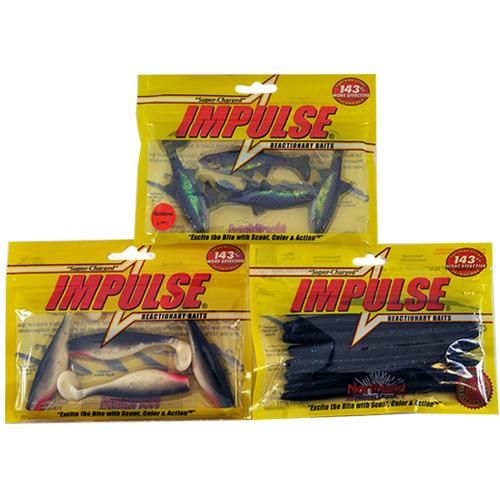 Northland Tackle Impulse Bait 3 Piece Assortment Soft Baits