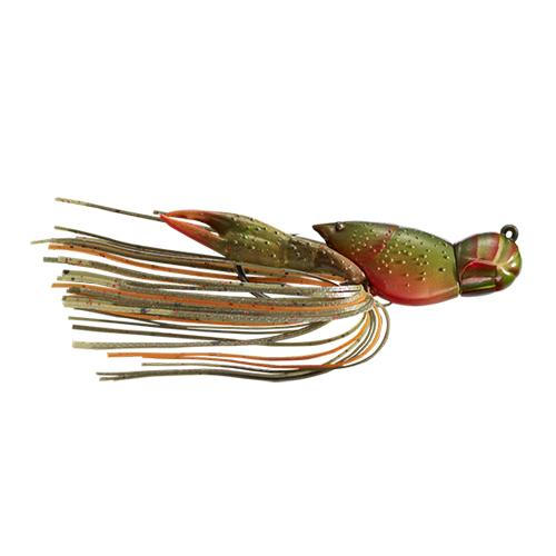 LIVETARGET 3/8 oz Hollow Crawfish Jig Olive/Orange Hard Baits