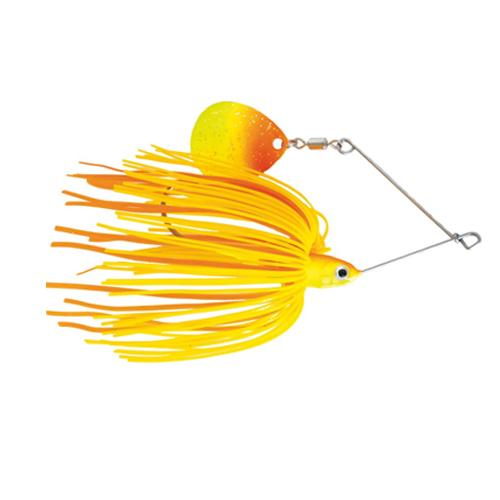 Mission Tackle Single Spins Spinnerbait 1/2 oz / Orange/Chartreuse Hard Baits