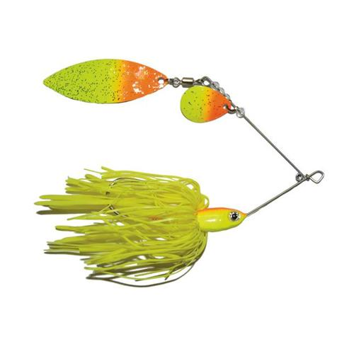 Mission Tackle Tandem Spins Spinnerbait 3/8 oz / Orange/Chartreuse Hard Baits