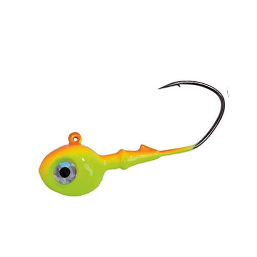 Mission Tackle Rock Chuck Jig Head - 3 Pack 1/4 oz / Orange/Chartreuse Hard Baits