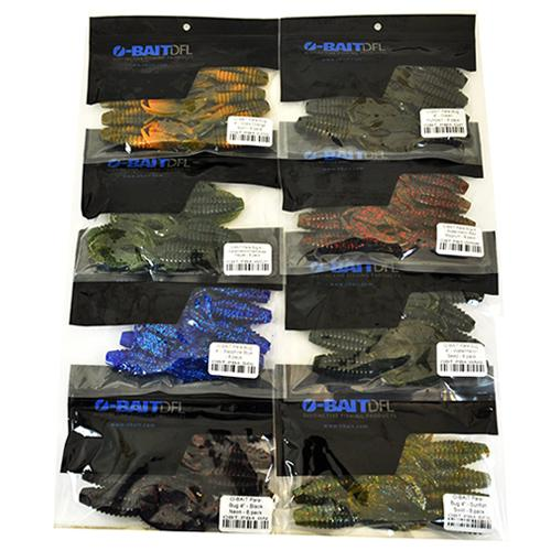 "O-Bait 4"" Para-Bug 8 Piece Assortment Soft Baits"