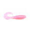 "PowerTeam Lures Grub 4.5"" - 10 Pack Pink Soft Baits"