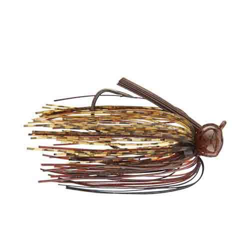 Terminator Weedless Football Jig 1/2 oz / Pumpkin Brown Black Hard Baits