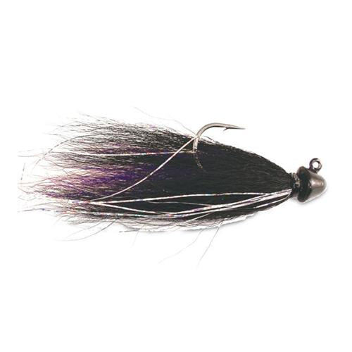 Kalin's Hot Hair Jig - Walleye 3/8 oz / Black/Purple/Black Hard Baits