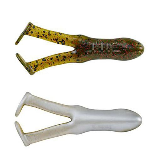 Berkley PowerBait Beat'n Paddle Frog - 5 Pack Watermelon Red Fleck/Pearl Belly Soft Baits