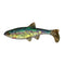Northland Tackle Impulse Live Paddle Minnow - 4 Pack Rainbow Soft Baits