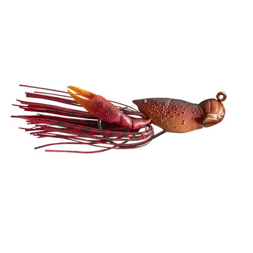LIVETARGET 3/8 oz Hollow Crawfish Jig Red Hard Baits