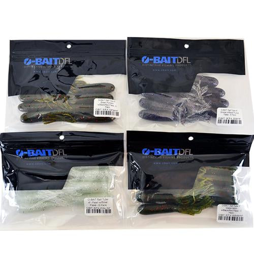 "O-Bait 4"" Salt Tube 4 Piece Assortment Soft Baits"