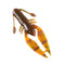 "PowerTeam Lures 3.5"" Craw D'oeuvre - 8 Pack Scupper Pumpkin Swirl Soft Baits"