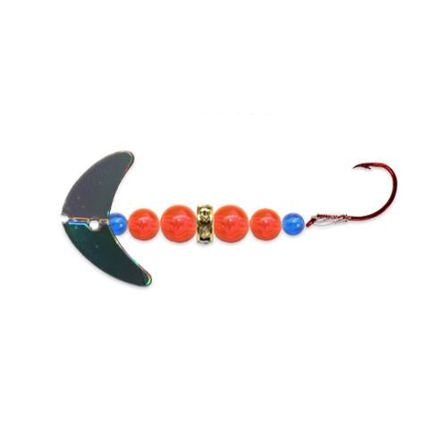 Mack's Lure Wedding Ring Mini Pro Spinner with Smile Blade Silver Mirror/Flo Orange Hard Baits