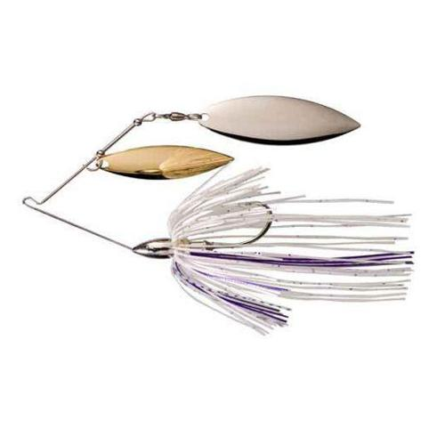 War Eagle Nickel Double Willow Spinnerbait 3/8 oz / Smoke Purple Hard Baits