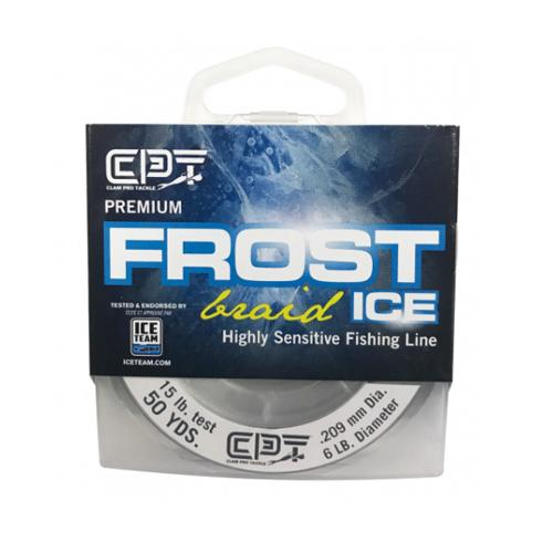 Clam Frost Ice Premium Braided Ice Fishing Line - Smoke
