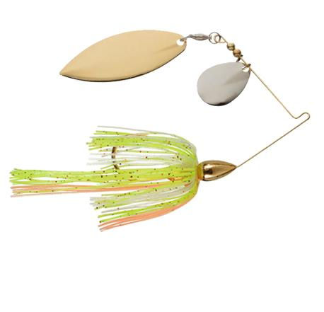 War Eagle 1/2 oz Screaming Eagle Gold Tandem Willow Spinnerbait - Sun Perch