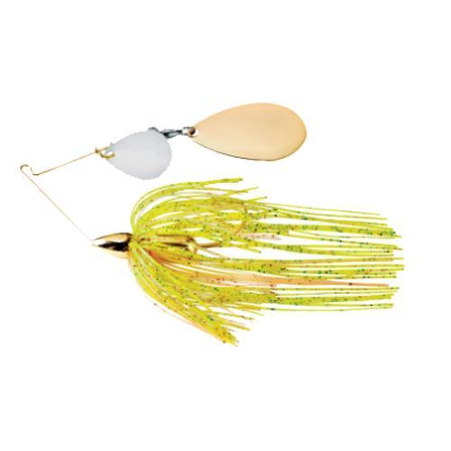War Eagle Gold Frame Tandem Colorado Spinnerbait 1/4 oz / Sun Perch Hard Baits