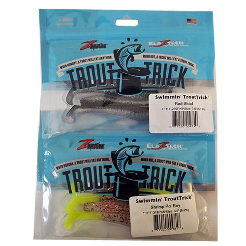 "Z-Man Swimmin' TroutTrick 3.5"" 2 Piece Assortment Sets & Bundles"