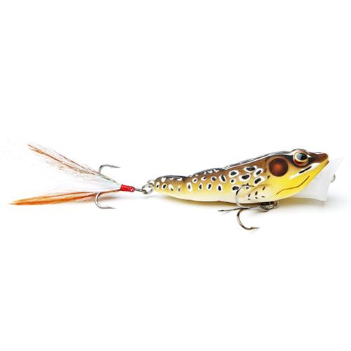 LIVETARGET Frog Popper 1/4 oz / Tan/Brown Hard Baits