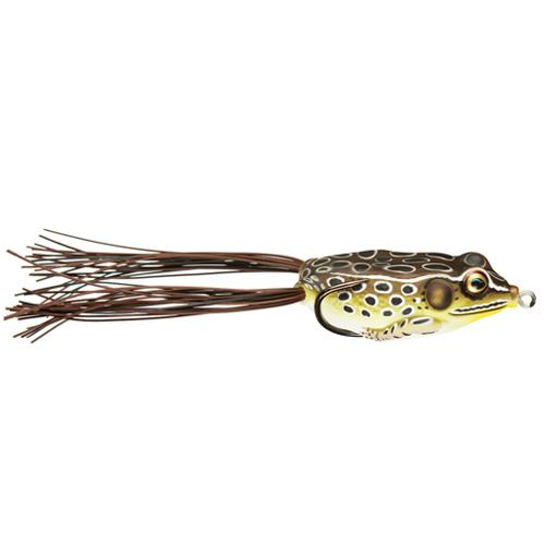LIVETARGET Hollow Body Frog 1/4 oz / Tan/Brown Soft Baits