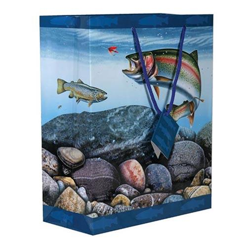 River's Edge Themed Gift Bag Medium / Trout Accessories