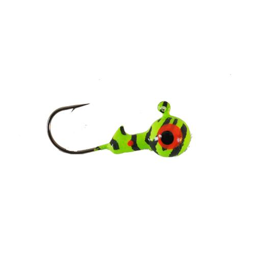 Mission Tackle 3/16 oz Round Head Jig - UV Green