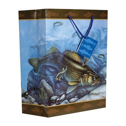 River's Edge Themed Gift Bag Medium / Walleye Accessories