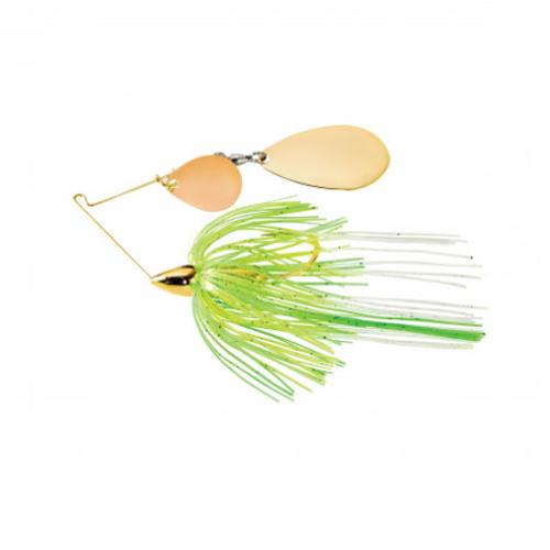 War Eagle 1/2 oz Screaming Eagle Gold Tandem Colorado Spinnerbait - White Lime Chartreuse