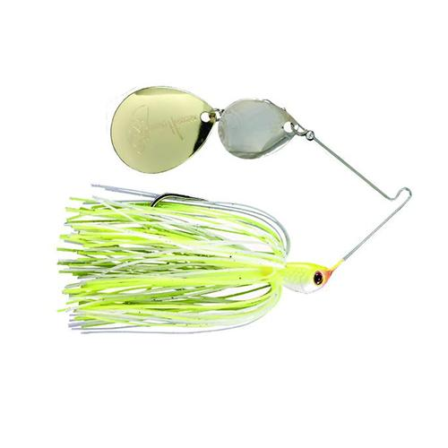 Luck-E-Strike Jimmy Houston Legends Colorado Spinnerbait Chartreuse White Hard Baits