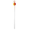 Ice Strong XL Titanium Spring Bobber - Flame Red/Orange