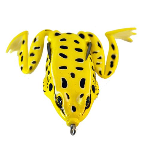 Go To Baits Cloned Frog Yellow Midnight Soft Baits