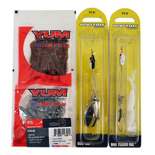 Yum Grub and Booyah Rig 4 Piece Assortment Assortment
