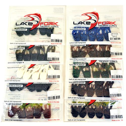 "Lake Fork 2-1/2"" Pig Claw 10 Piece Assortment Soft Baits"