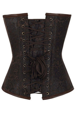 Steel Bone Hourglass Steampunk Chained Overbust Corset