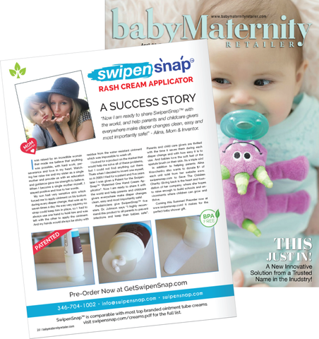 SwipenSnap™ Success Story is Featured in Baby Maternity Magazine