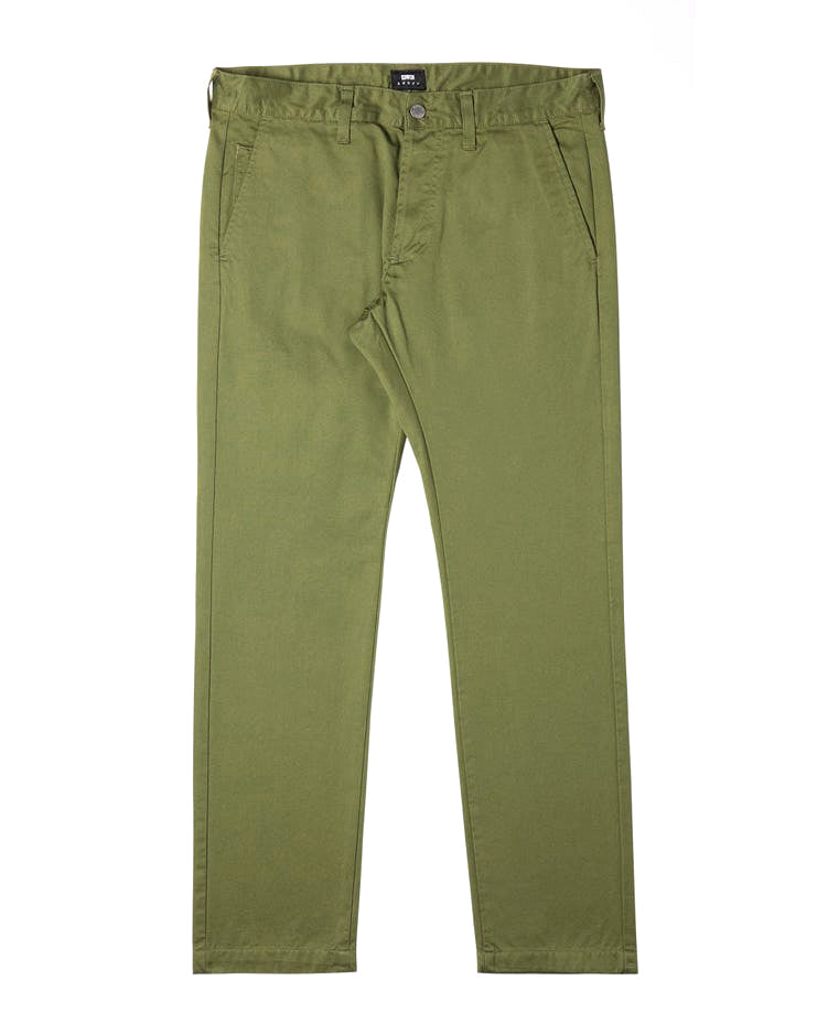 55 Chino - Military Green Plain - Rinsed